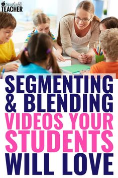 Looking for videos to help your students practice segmenting and blending? Look no further! Here is a list of 6 amazing videos that will have your kids blending and segmenting in no time! Comprehension Activities, Phonics Activities, Reading Activities, Classroom Activities, Classroom Ideas, 3rd Grade Reading, Kindergarten Reading, Teaching Reading, Preschool Kindergarten