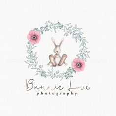 Bunny Logo Rabbit Logo Doll Logo Design by stylemesweetdesign