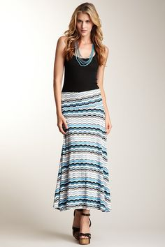 Lilly Foldover Maxi Skirt by Hourglass Lilly on @HauteLook