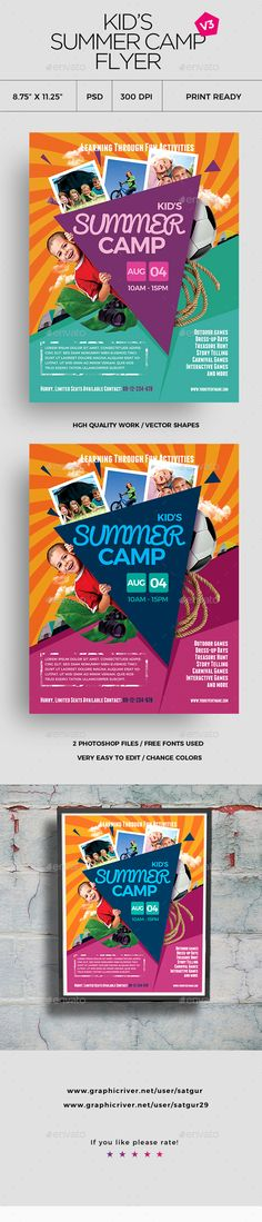 Kids Summer Camp Flyer | Camping And Summer