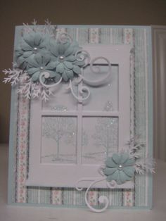 The Pink Dawg House: MADISON WINDOW - Stampin Up - Lovely as a Tree for the background