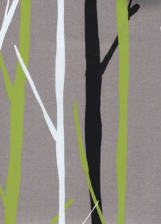 birch tree wallpaper with a metallic silver back... perfectly hip & manly