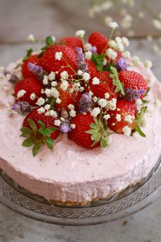 No-Bake Strawberry Cheesecake- With just a few ingredients you can recreate this beautiful dessert without even turning on the oven.