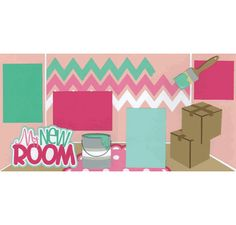 My New Room - Girl Page Kit