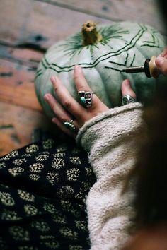 Henna & Wood Burned Pumpkins | Free People Blog #freepeople