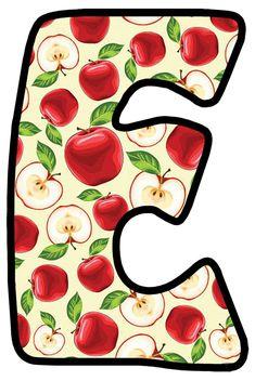 Buchstabe - Letter E Alphabet, Monogram Letters, Botany, Malta, Back To School, Symbols, Apple, Lettering, Irene