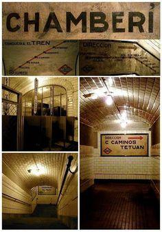 Estación de Chamberí, sin uso hace 48  años, actualmente se puede visitar como museo, es gratis! Madrid