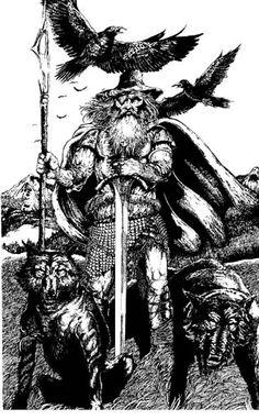 Odin, Wolves & ravens