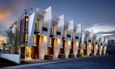 Townhouses designed by Buensalido Architects...one of the most stylish townhouses I've seen!