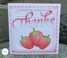Joset van de Burgt shares this delightful card on the blog with us! Joset used her Joset Designs' Strawberries, A Way With Words' Thanks, Karen Burniston's Accordion Fancy Label and Fancy Frame Edges, Clear Double Sided Adhesive, Soft Finish Cardstock in White, and Glitter Dots. Find the full post here: http://wp.me/p4kQzc-4rW