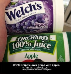 Mix 50/50 grape and apple juice, to make grapple.  Grapple is also a great source of Vitamin C!