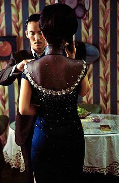 "Gong Li & Chang Chen in ""Eros"" - love this cheongsam Asian Style, Chinese Style, Cheongsam Modern, Gong Li, Hong Kong, Old Shanghai, Chinese Movies, Oriental Fashion, Chinese Actress"