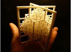 3D printed Beamed Octahedron Fractal by bib993 #3dPrintedShapes