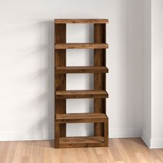 Three Posts™ Sure they're perfect for housing your favorite titles, but there's no reason bookcases can't hold more than, well, books! A bookcase like this, for example, is ideal for staging decorative objects and potted plants in a rustic-inspired traditional style. Crafted in the USA from solid and manufactured wood, this piece features five tiers of shelving in an open design, so it's perfect for housing your favorite novels and potted plants all at once. Measuring 72.13'' H x 29.88'' W x 12. Wooden Pallet Projects, Small Wood Projects, Diy Pallet Furniture, Diy Furniture Projects, Recycled Furniture, Pallet Wood, Wooden Furniture, Furniture Plans, Diy Projects