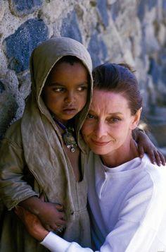 Audrey Hepburn in Ethiopia, 1988 for UNICEF.
