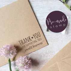 Thank You For Supporting This Small Business Stamp by ClariseStamps on Etsy https://www.etsy.com/uk/listing/279450264/thank-you-for-supporting-this-small