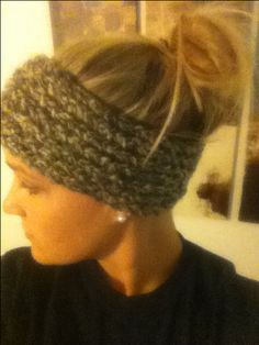 Headband made from knitting loom