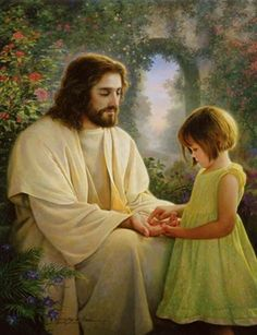 Jesus and little girl
