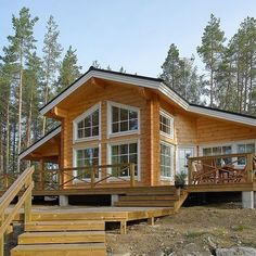 Log Home - Kuusamo Log Houses Style At Home, Future House, Lincoln Logs, House Made, House In The Woods, Log Homes, Cottage, Architecture, House Styles