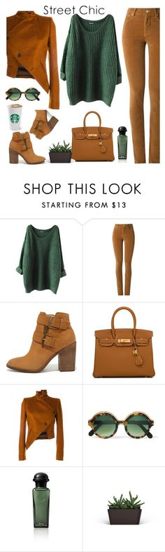 """Untitled #528"" by jovana-p-com ❤ liked on Polyvore featuring Amapô, Steve Madden, Hermès, Ann Demeulemeester and Cutler and Gross"