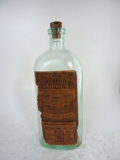 Lydia Pinkham's Medicine Bottle by BonniesVintageAttic on Etsy,