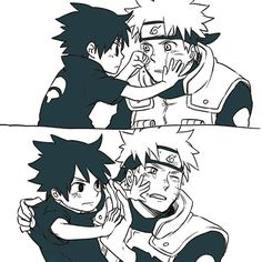Is Sasuke checking out his Whiskers?