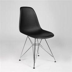 Silla Tow de Réplicas de Diseño, negro