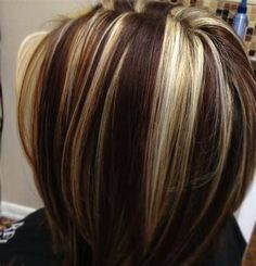 Straight, soft and frizzy hair, all this you can achieve with Chocoliss Herbal. Brown Hair With Lowlights, Brown Blonde Hair, Light Brown Hair, Blonde Chunks, Corte Y Color, Hair Highlights, Chunky Highlights, Barbie, Girly