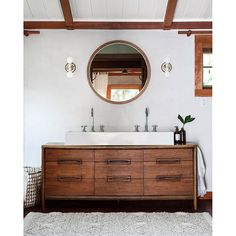 Freshen up!  Our pals, @jerseyicecreamco, are serious pros when it comes to mastering the art of bringing new life to vintage pieces. What was once an antique dresser is now a chic vanity in this dreamy cabin! [Tap the link in our profile to take the full tour.] : @heidisbridge