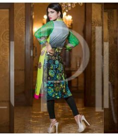 Plush Embroidered Kurti Collection 2015 Vol-1 by Riaz Arts EK-08