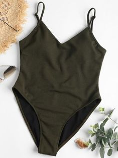 SHARE & Get it FREE | One Piece High Cut Backless Swimsuit - Dark Forest Green LFor Fashion Lovers only:80,000+ Items • New Arrivals Daily Join Zaful: Get YOUR $50 NOW!