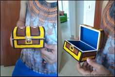 Paint a blank treasure chest from the craft store to look like one from The Legend of Zelda!!!