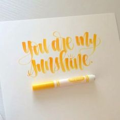 """2,633 Likes, 127 Comments - Holly (@cl_lettering) on Instagram: """"Some #crayligraphy blending with a yellow and an orange Crayola. Video at 2x speed. Hope you all…"""""""