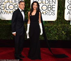 Actor and attorney: George and Amal were married in September and walked the Golden Globes...