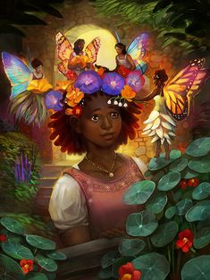 The Faerie Garden by Hugo-award-winning illustrator Julie Dillon on her DeviantArt pages