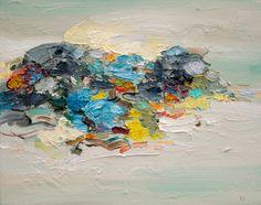 """Saatchi Online Artist: Yangyang pan; Oil, 2013, Painting """"Sea Rock 02"""""""
