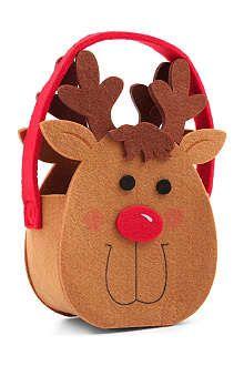 GISELA GRAHAM Felt reindeer bag