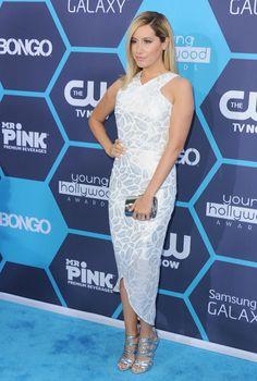 Nice Dresses, Short Dresses, Female Movie Stars, Beautiful Female Celebrities, Ashley Tisdale, Red Carpet, Celebrity Style, Awards, Longer Hair