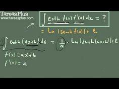 Integral de cotangente hiperbólica