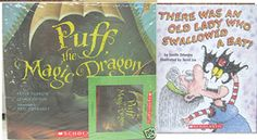 Puff the Magic Dragon book + sing-along CD There once was an old lady Peter Yarrow, Puff The Magic Dragon, Wheels On The Bus, English Book, Disney Christmas, Little Star, Old Women, Twinkle Twinkle, Little Babies