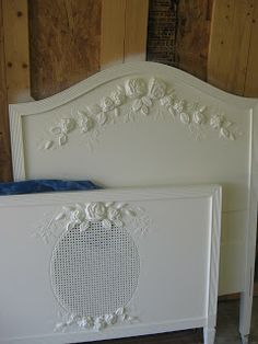Victoria Larsen's plaster pieces from mold added to bed