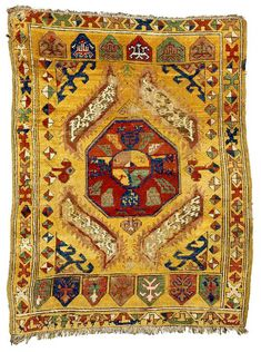 Antique Konya rug with a yastik design mid 19th century Sotheby's Lot 24
