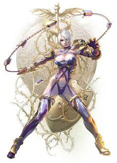 Ivy concept art for Soul Calibur VI Fantasy Women, Fantasy Girl, Dark Fantasy, Fantasy Character Design, Character Art, Character Inspiration, Soul Calibur Characters, Arte Ninja, Valentines Art