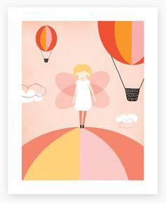 Cute for a little girl's room | Art Print by Mara Girling