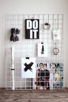 Creative and chic organizing ideas...