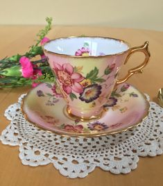 Your place to buy and sell all things handmade Vintage Cups, Vintage Tea, Antique China, Vintage China, Teapots And Cups, Teacups, China Sets, China Patterns, Tea Sets