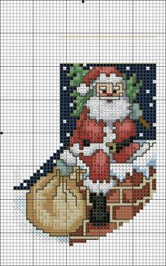 Сапожки к Рождеству / Вышивка / Схемы вышивки крестом