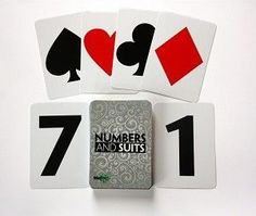 Use these cards to sort by color, number, or suit; play simple games; or sequence by numbers.  Great simple cards for Alzheimers and other dementia.