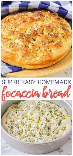 Bread Machine Recipes, Easy Bread Recipes, Cooking Recipes, Healthy Recipes, Best Bread Recipe, Focaccia Bread Machine Recipe, Bread Flour Recipes, Healthy Baking, Breakfast Bread Recipes