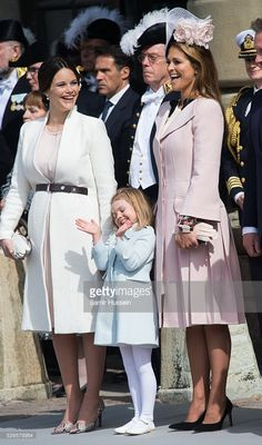 Princesses Sofia and Madeleine enjoying little Estelle's adorable antics. April 30, 2016.